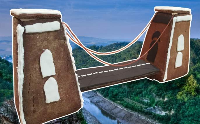gingerbread clifton suspension bridge